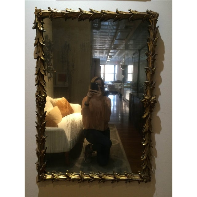 Vintage 1950s Rectangular Gilded Mirror - Image 2 of 8