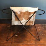 Image of Mid-Century Cowhide Sling Hoop Chairs