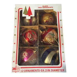Vintage Christmas Tree Ornaments - Set of 6