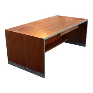 Mid-Century Modern Jens Risom Walnut Executive Desk