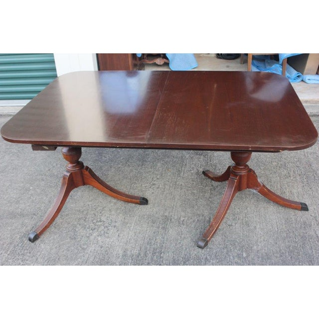 Mahogany Duncan-Phyfe Dining Table - Image 2 of 5