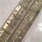 Image of Vtg Silver Foil Fleck Faux Lucite Candles - Pair