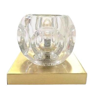 Image of Sciolari Glass & Brass Sconce