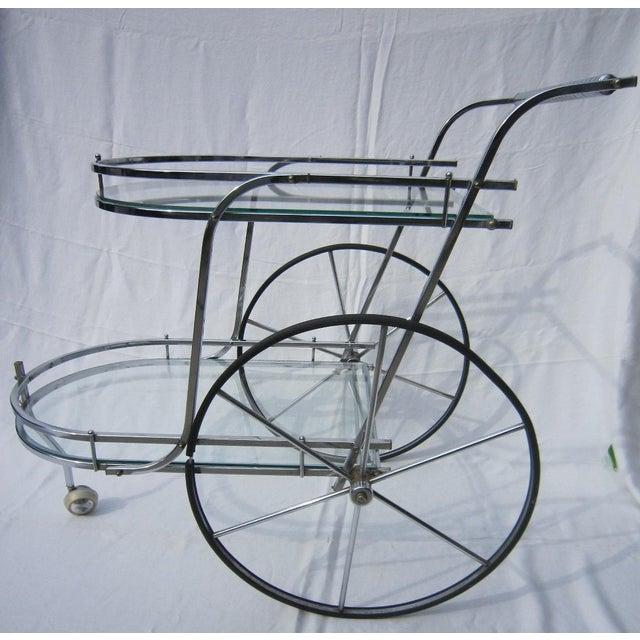 Italian Chrome Bar Cart - Image 2 of 6