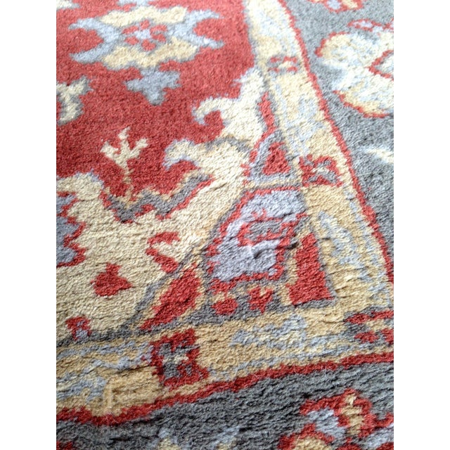 Pottery Barn Red & Blue Area Rug - 5' x 8' - Image 3 of 4