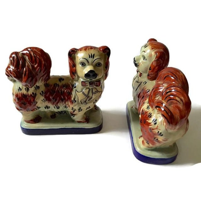 Vintage Tibetan Chinese Imperial Dogs - A Pair - Image 4 of 6