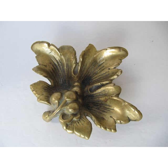 Brass Grape Leave Catchall - Image 5 of 5