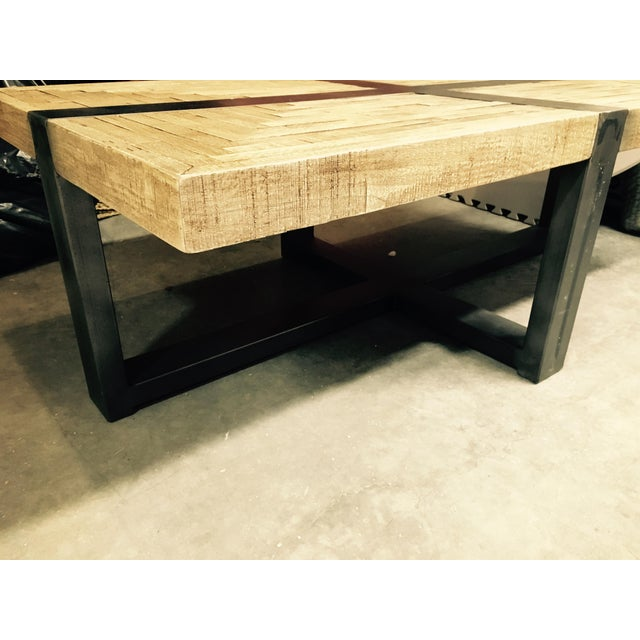 Salvaged Butcher Block Coffee Table Chairish