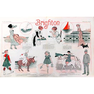"1910 La Vie Parisienne ""Brighton Beach"" Print"