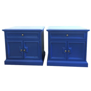 Drexel Blue Nightstands - A Pair