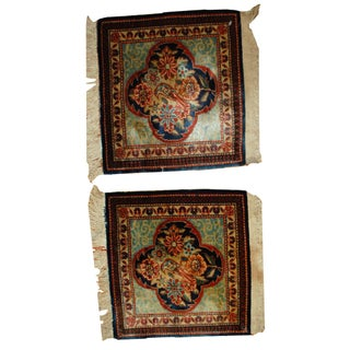1890s Antique Persian Dabir Kashan Rugs- A Pair - 1′8″ × 2′1″