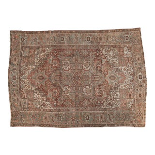 "Vintage Distressed Karaja Carpet - 8'4"" x 11'11"""