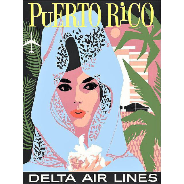 Vintage Reproduction Puerto Rico Travel Poster - Image 1 of 2