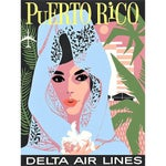 Image of Vintage Reproduction Puerto Rico Travel Poster