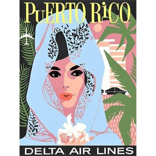 Vintage Reproduction Puerto Rico Travel Poster