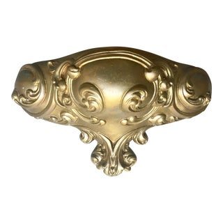 Gold Chalkware Sconce
