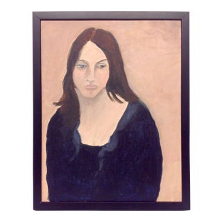 Betty Warren Expressionist Oil Portrait on Canvas