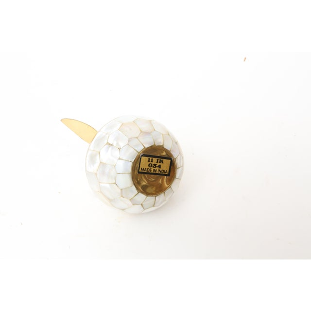 Vintage Mother of Pearl and Brass Trinket Box - Image 7 of 7