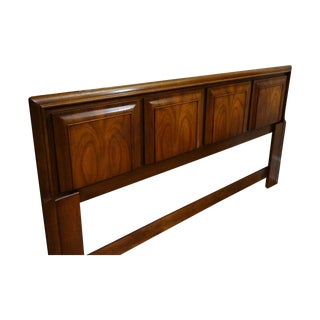 Mid-Century Walnut King Headboard by United