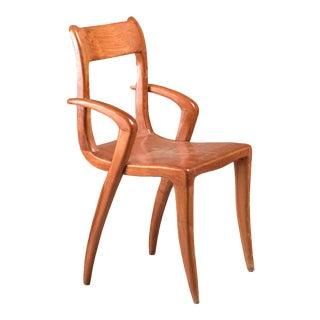 Brazilian Sculptural, Organic Wooden Craft Chair, 1950s