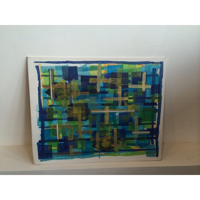Image of 1970s Abstract Painting on Board, Unsigned