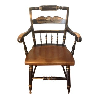 Eagle Painted Hitchcock Armchair