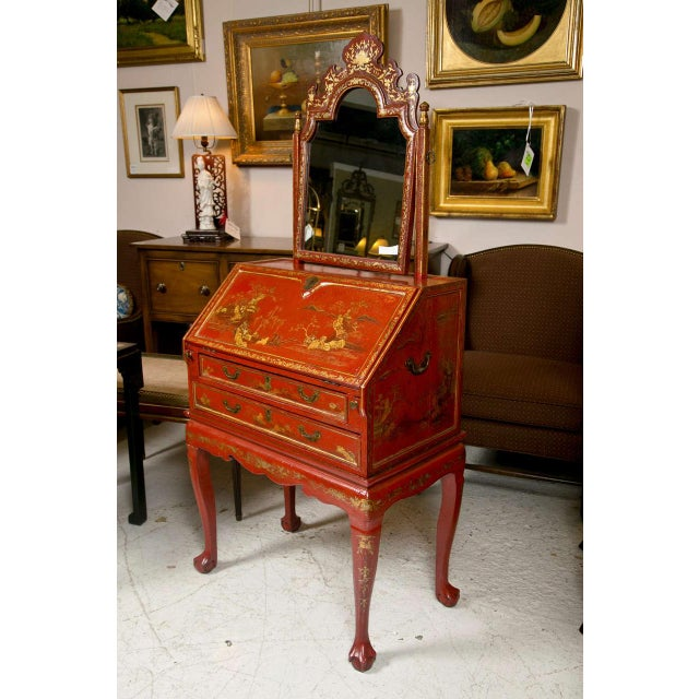 Antique 19th Century Painted Chinoiserie Vanity - Image 3 of 10