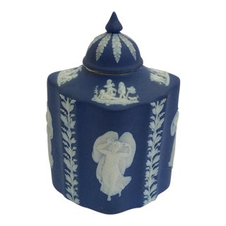 Blue & White Wedgwood Tea Caddy