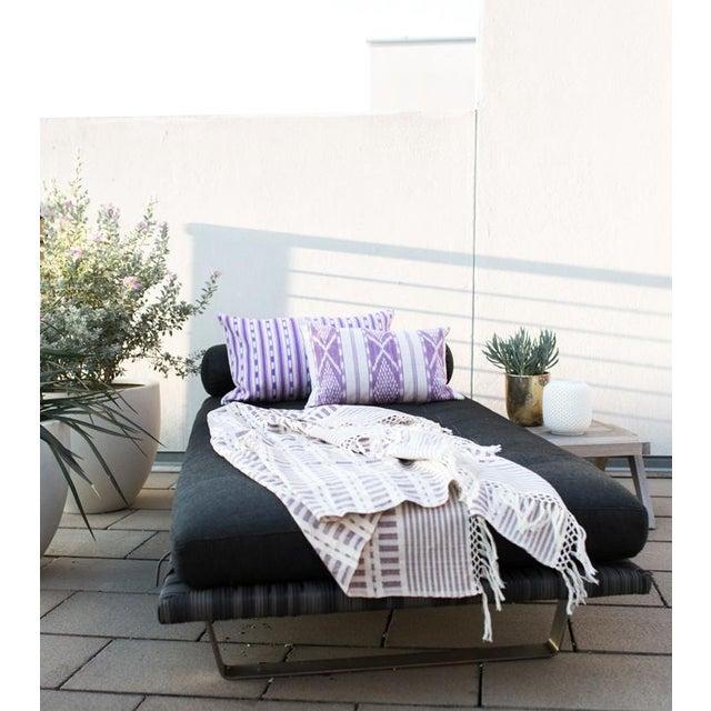 Lilac Purple Ikat Guatemalan Pillow - Image 6 of 7
