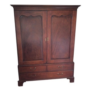 Antique English Mahogany Armoire