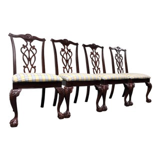 Lexington Chippendale Mahogany Ball Claw Dining Chairs- Set of 4