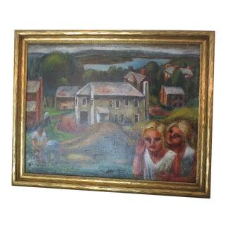 "Sakari Suzuki ""Working on the Farm"" WPA Painting"