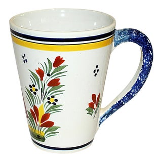 Henriot Quimper Faience Coffee Mug