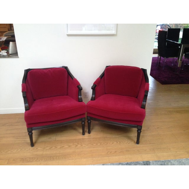 Vintage Mohair Club Chairs - A Pair - Image 2 of 6