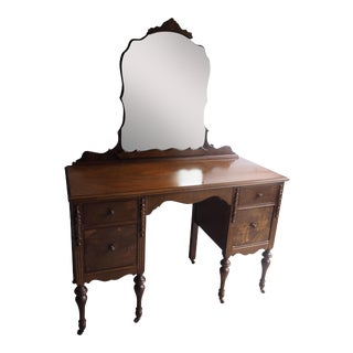Mirrored Vanity on Caster Wheels