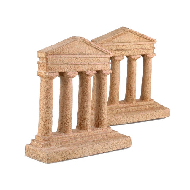 Image of Terracotta Greek Acropolis Style Bookends - A Pair
