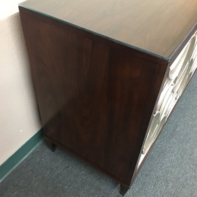 Caracole Rosewood & Silver Tie One On Three Drawer Chest - Image 6 of 11