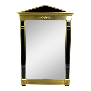 Vintage Mastercraft Brass Empire Style Mirror, Brass Mirror