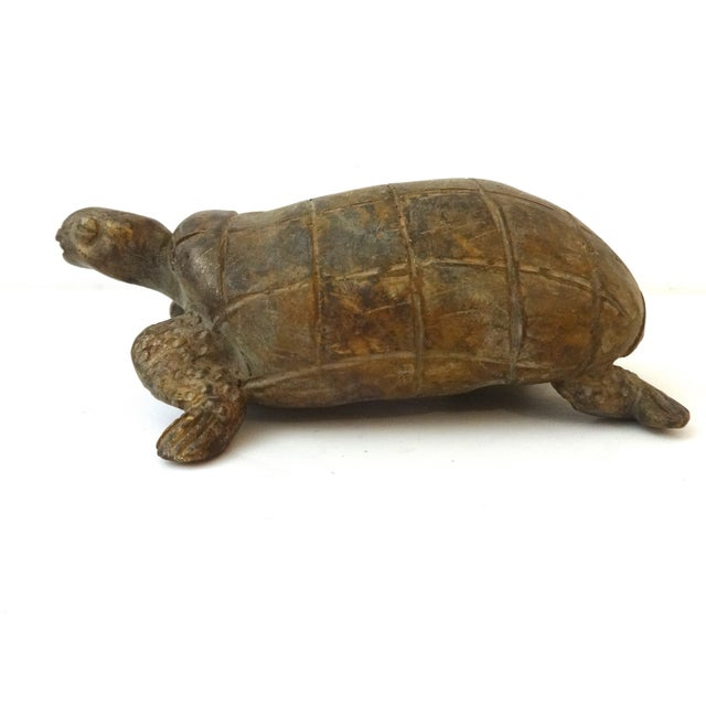 Bronze African Ashanti Akan Sculpture - Turtle - Image 2 of 8