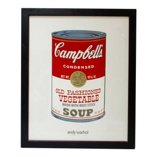 Framed Andy Warhol Campbell's Soup Print