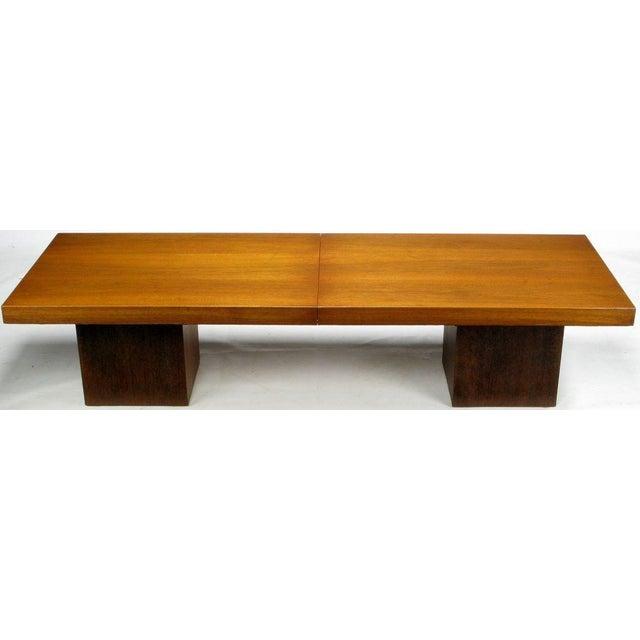Walnut & Micarta Expanding Top Coffee Table By John Keal - Image 3 of 7
