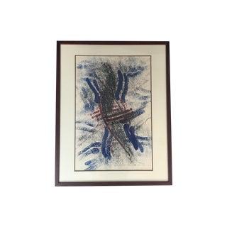 "Lisa Rhana - ""Untitled"" Abstract Blue Painting"