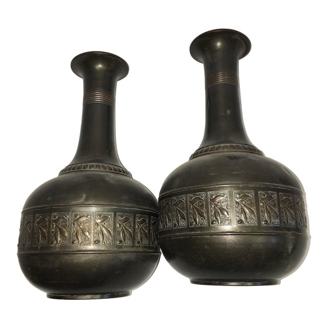 Vintage Tiel Copper Vases - A Pair - Image 1 of 10