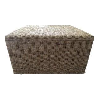 Wicker Cube Coffee Table