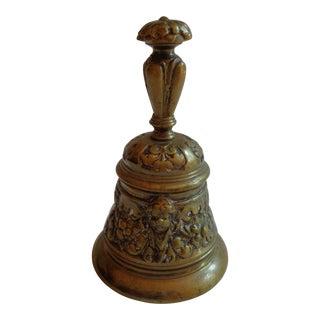 Vintage 1930s Ornate Brass Cherub Bell