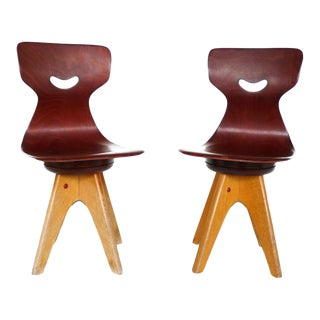 Pair of Modernist Bentwood Adam Stegner Children's Chairs Pagho
