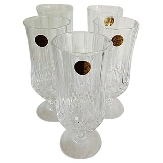 French Faceted Ice Tea Glasses, 5 Pcs.
