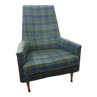Paul McCobb Symmetric Group Plaid Chair