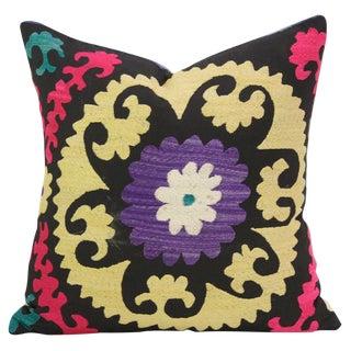 Violet Suzani Square Pillow