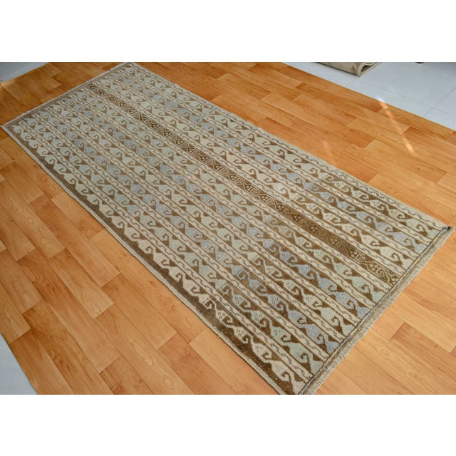 Turkish Hand-Knotted Oushak Runner Rug - 3' X 7' - Image 2 of 9